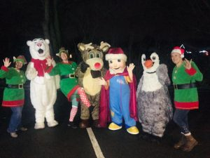 CAFT Christmas mascots